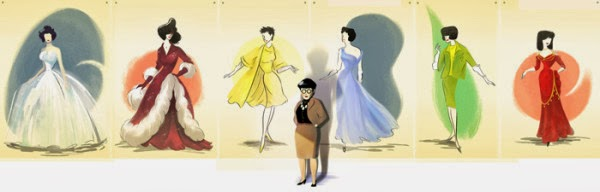 Google Doodles Released Logo for Edith Head 116th Birthday.