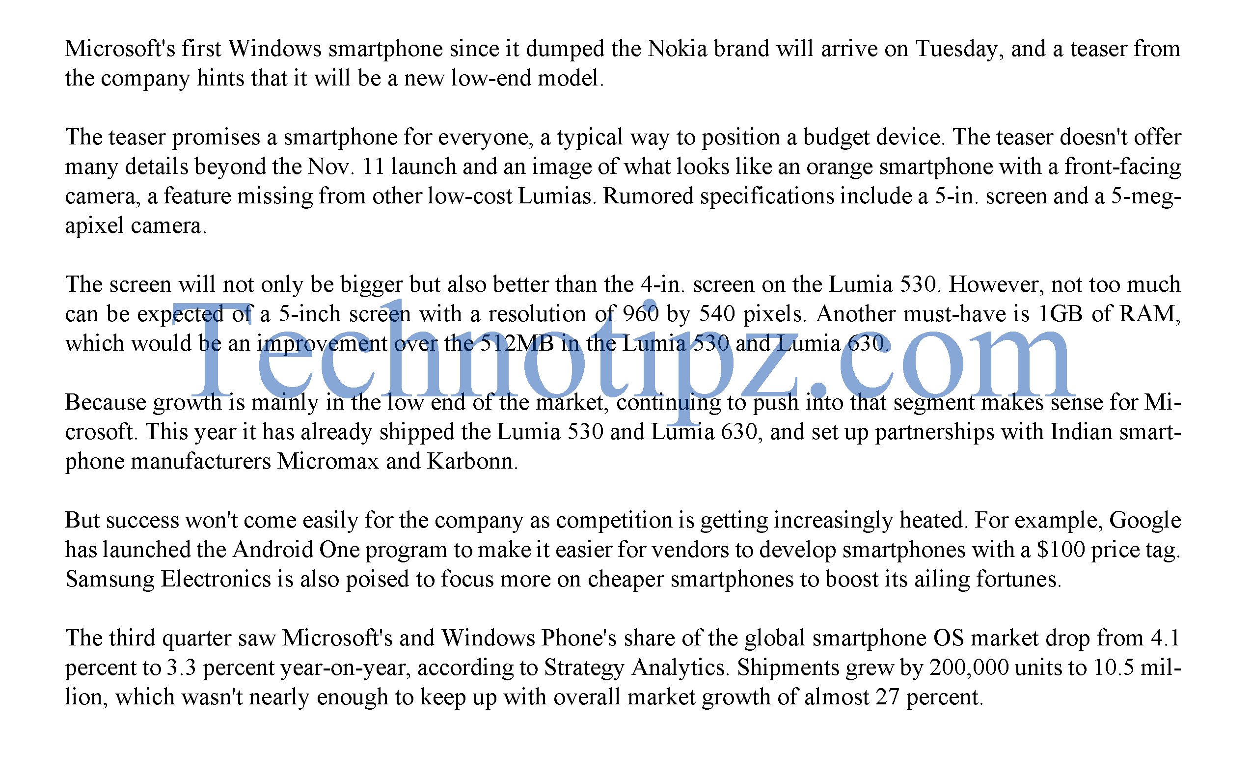 Microsoft's First Lumia Mobile coming on this Tuesday.