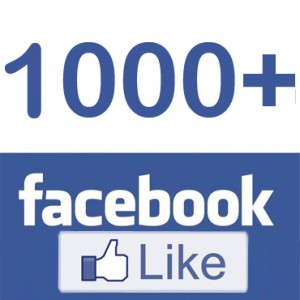Ways of getting 1000 likes on facebook