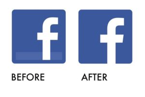 Facebook just changed its logo.