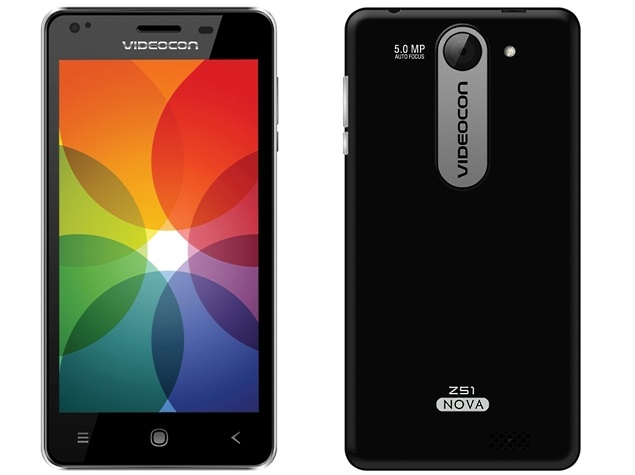 Videocon Z55 Dash Android smartphone started